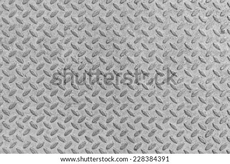 Metal seamless steel diamond plate texture pattern background - stock photo
