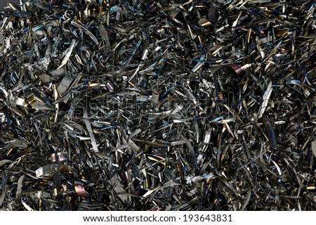 Metal Shavings as background - stock photo