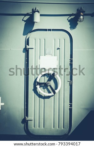Metal Ship Door Boat Lock Wheel Stock Photo (Royalty Free) 793394017 - Shutterstock & Metal Ship Door Boat Lock Wheel Stock Photo (Royalty Free) 793394017 ...