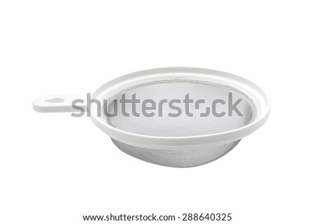 Metal sifter isolated on white background - stock photo