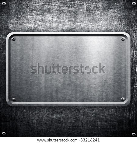 metal sign background