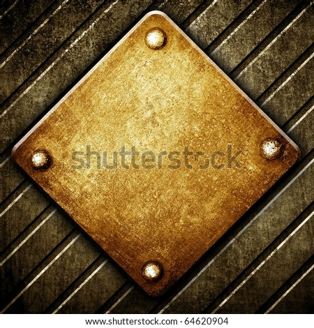 metal sign template - stock photo