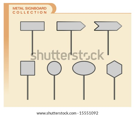 Metal signboard collection - stock photo