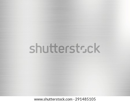 Metal silver background or texture of brushed steel plate with reflections Iron plate and shiny - stock photo