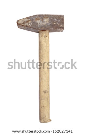 Metal sledge hammer isolated on white background
