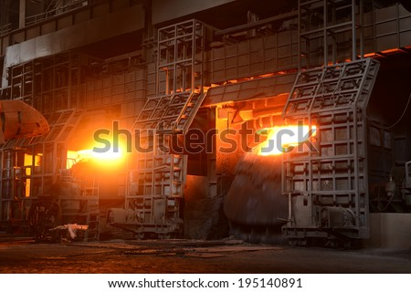 Metal smelting workshop is homework  - stock photo