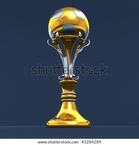 metal soccer world cup - stock photo