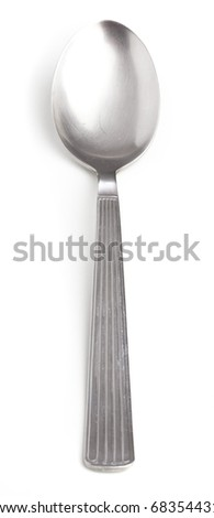 metal spoon isolated on a white background - stock photo