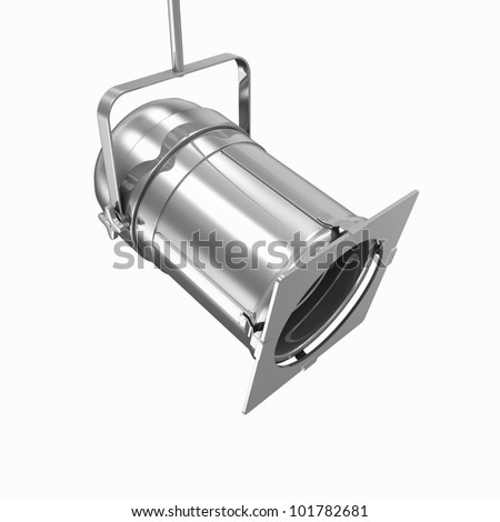 Metal Spotlight isolated on white background - stock photo