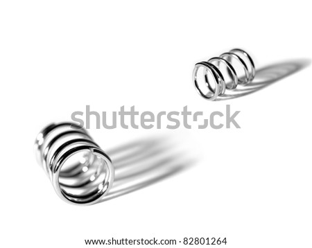 Metal springs isolated against a white background - stock photo