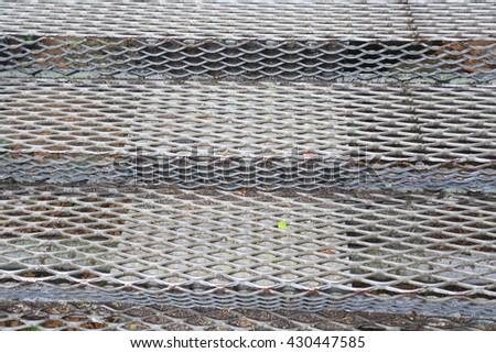 metal staircase - stock photo