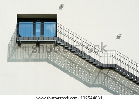 Metal Stairs as an Contemporary Architectural Element - stock photo