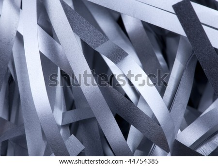 Metal strips close up