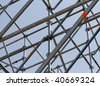 Metal structure. - stock photo