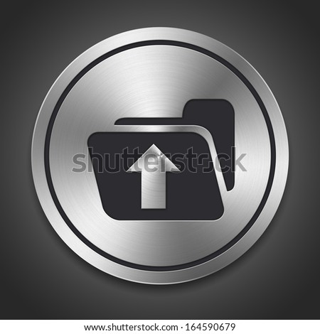 Metal style icon, the whole series has 300 to choose from - stock photo