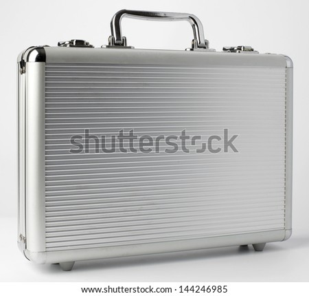 metal suitcase - stock photo