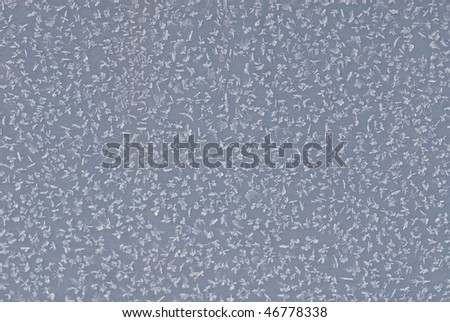 Metal surface covered witn hoarfrost - stock photo