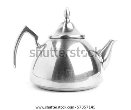 metal teapot - stock photo