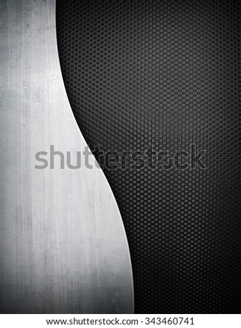 metal template background - stock photo