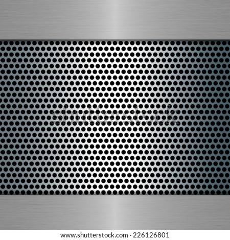 metal template with metal grill - stock photo