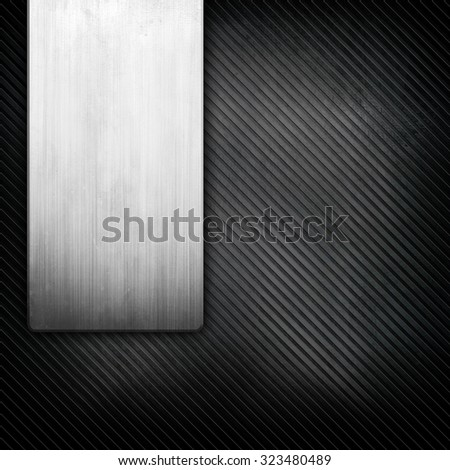 metal template with striped pattern - stock photo