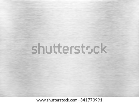 Metal texture background. Macro photo of brushed aluminium. - stock photo