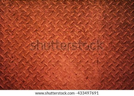 Metal texture bright orange red background - stock photo