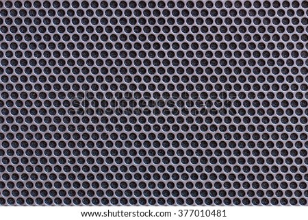 Metal texture with circle pattern use for background.
