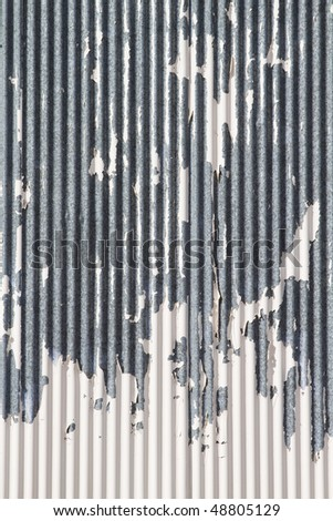 Metal texture, with grunge paint - stock photo