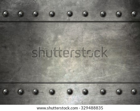 metal texture with rivets - stock photo