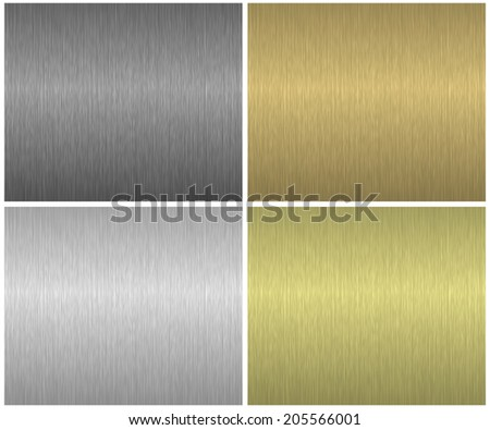 Metal textures set - stock photo