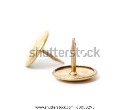 Metal thumbtack - stock photo