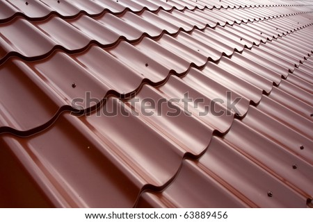 Metal tile - stock photo