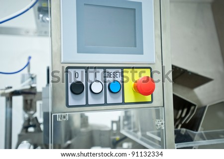 metal tool for pill production - stock photo