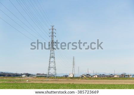 Metal tower of Power Lines - stock photo