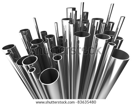 Metal tube - stock photo