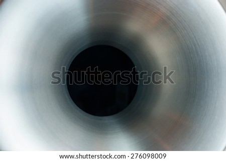 Metal tube abstract background