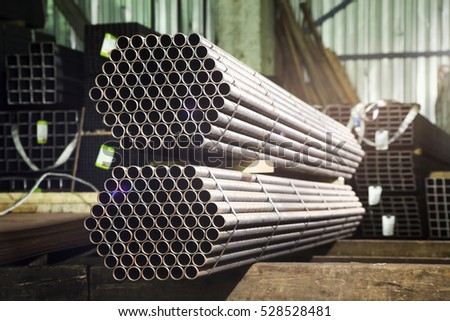 Metal tubes deposited in stacks