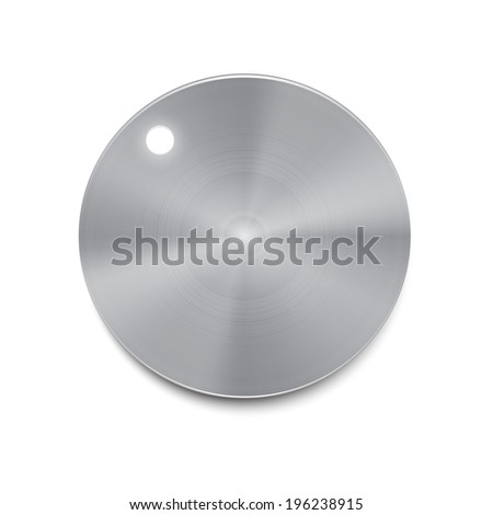 Metal volume button illustration, silver volume button - stock photo