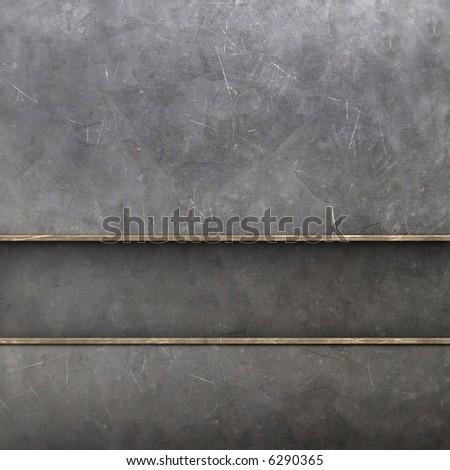 metal wall - stock photo