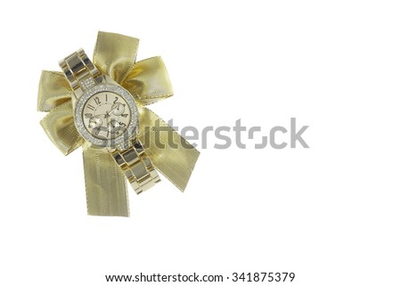 Metal watch gift - stock photo
