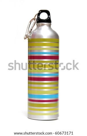 Metal Water Bottle - stock photo