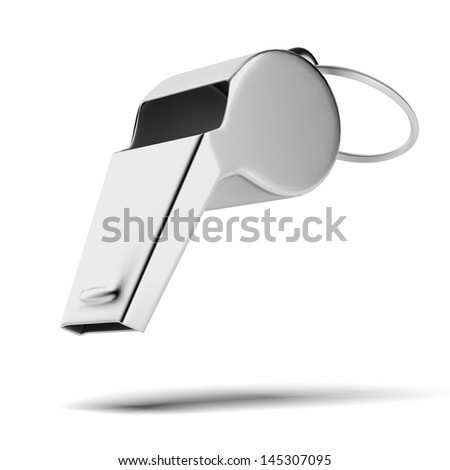 Metal whistle - stock photo