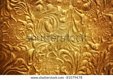 Metal with floral pattern