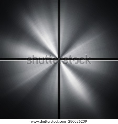 metal with rays background - stock photo