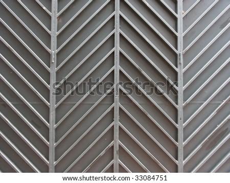 Metal zig zag pattern - stock photo