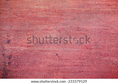 metallic background with cracked paint and rusty iron - stock photo