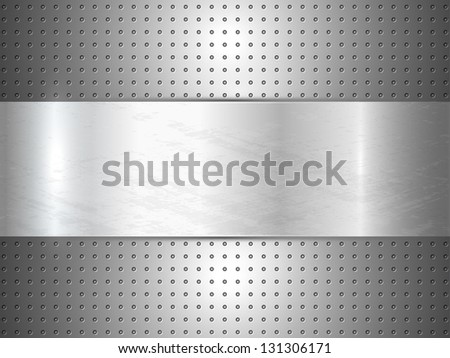 Metallic background with space for text. Raster version. - stock photo