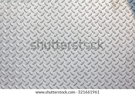 Metallic background with texture detail of a slip metal floor background with highlight - stock photo