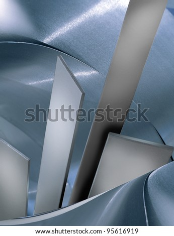 Metallic backgrounds/various textures. Slightly toned in blue - stock photo